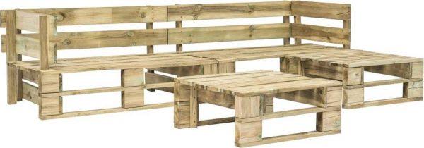 Medina 4-delige Loungeset pallet hout