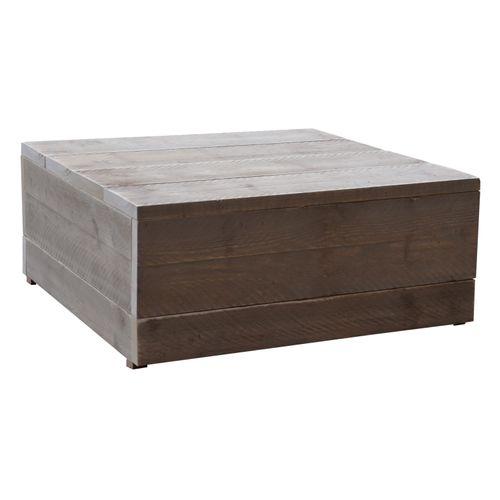 Wood4You hocker/bijzettafel steigerhout 80x80cm