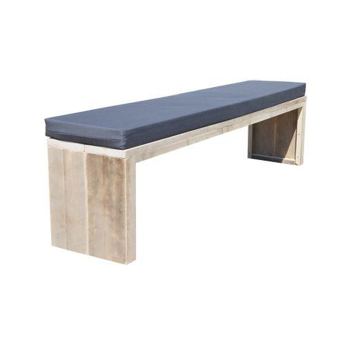 Wood4You tuinbank steigerhout + kussen 180cm
