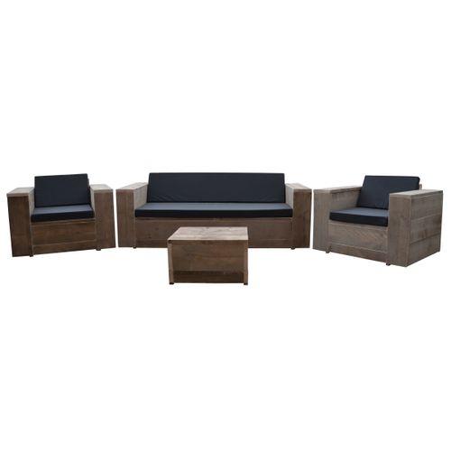 Wood4you loungeset Four steigerhout