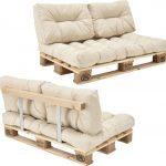 [en.casa]® Palletbank – tweezitsbank – pallet sofa beige