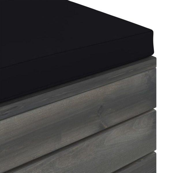 vidaXL 12-delige Loungeset met kussens pallet massief grenenhout