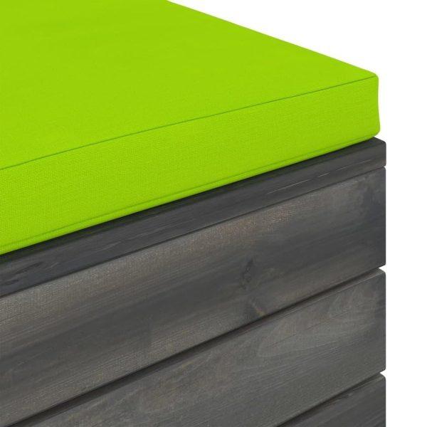 vidaXL 12-delige Loungeset met kussens pallet massief grenenhout VDXL_3062126