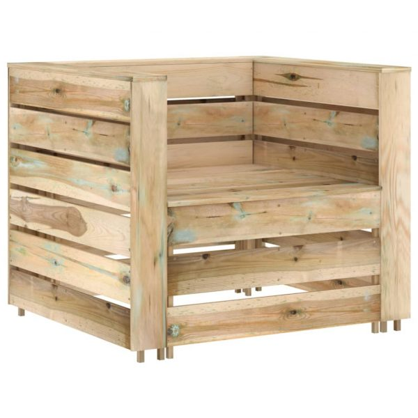 vidaXL 2-delige Loungeset pallet geïmpregneerd grenenhout