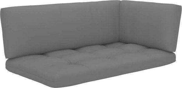 vidaXL 4-delige Loungeset pallet met kussens geïmpregneerd hout