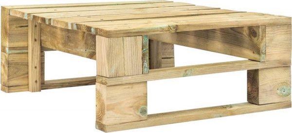 vidaXL 4-delige Loungeset pallet met kussens groen geïmpregneerd hout