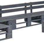 vidaXL 6-delige Loungeset pallet FSC hout grijs