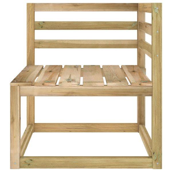 vidaXL Tuinhoekbank pallet groen geïmpregneerd grenenhout