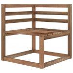 vidaXL Tuinhoekbanken 2 st pallet bruin geïmpregneerd grenenhout